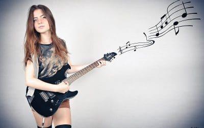 como tocar guitarra Electrica