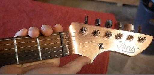 guitarra de granos de cafe pro Burls Art