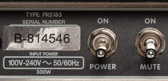 botones del Fender Tone Master Deluxe Reverb de atras