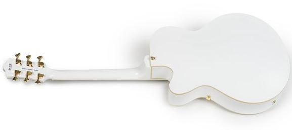 Guitarra parte trasera de Big Tone Trem blanca