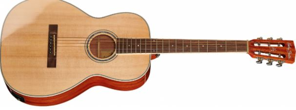 guitarra Harley Benton CLF-100E Parlor Acoustic & CLB-10SE travel bass